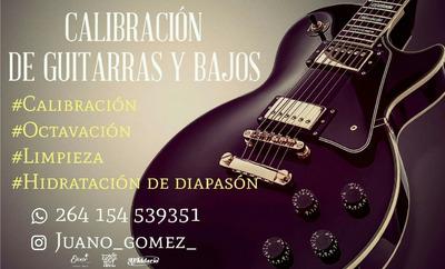Calibración Y Mantenimiento De Guitarras Y Bajos