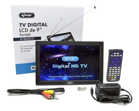 Tv Digital Portátil Recarregável Antena Embutida 9