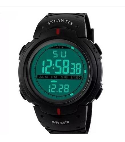 Relógio Digital Masculino Esportivo Prova D´água Atlantis