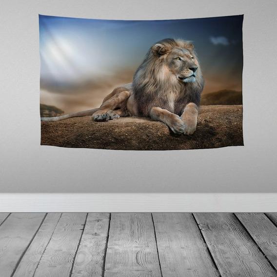 Stompy Bandeira Decorativa Leão Natureza Montanha Nature