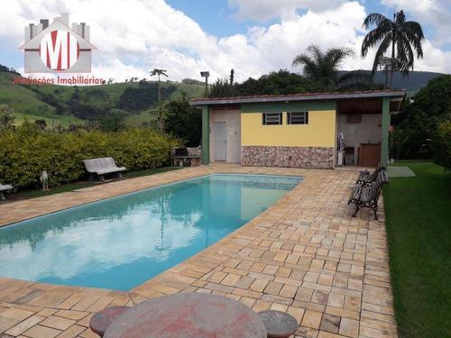 Chácara Com Escritura, 03 Dormitórios À Venda, 1750 M² Por R$ 450.000 - Rural - Socorro/sp - Ch0436