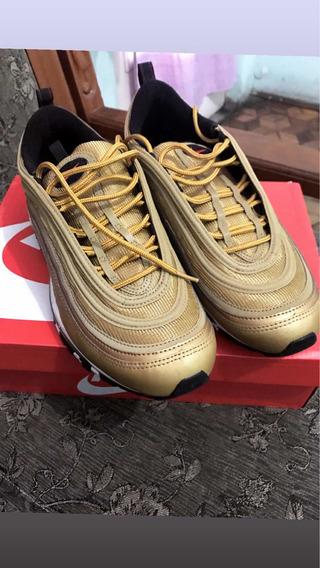 Tênis Nike Air Max 97 Gold Bullet Edição Limitada Na Caixa