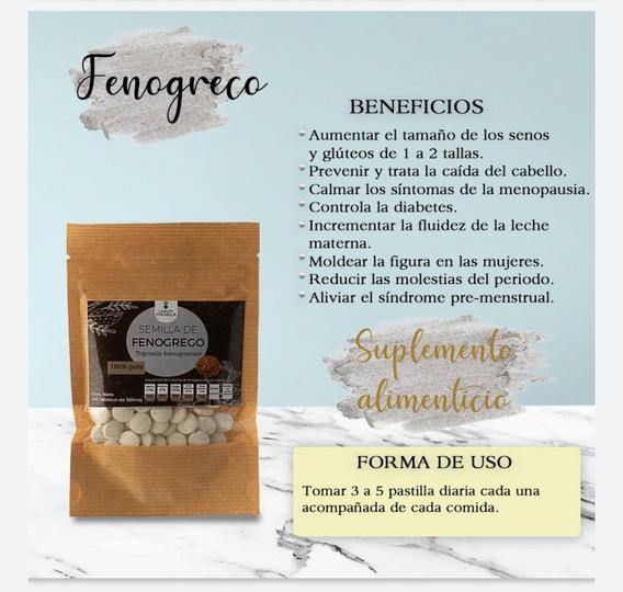 Bolsa De Fenogreco Lemon Cochella Con 100 Tabletas