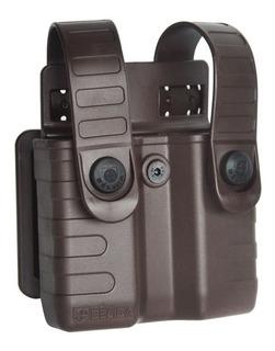 Porta Carregador Duplo Tático Belica .380 .40 9mm Tab Lock