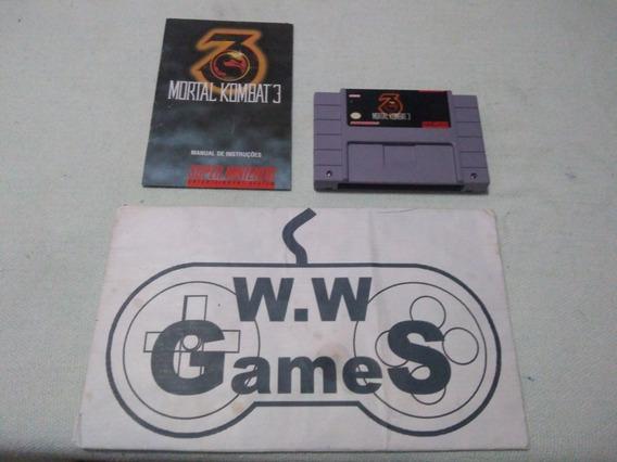 Super Nintendo - Snes - Mortal Kombat 3 -original Playtronic