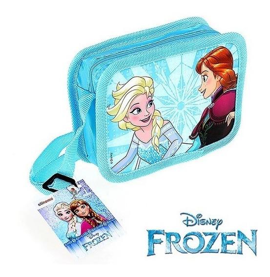 Bolsa De Vinil Infantil Retangular Frozen 16x11,5cm