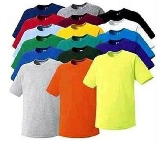 Franelas Unicolor Para Uniformes (somos Fabrica)