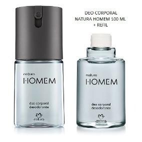 Promoção -desodorante Spray Natura Homem 100ml + Refi 100ml