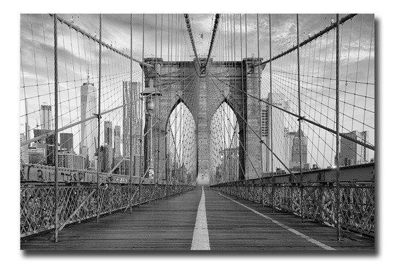Cuadros Nueva York Puente De Brooklyn Canvas 40x130 120x70