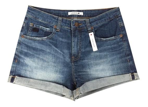 Short Lacoste Mujer Algodón Jean F0367