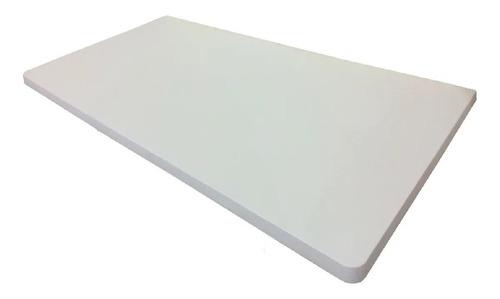 Imagem 1 de 1 de Mesa Bancada Parede Sem Suporte Branca 100x35cm