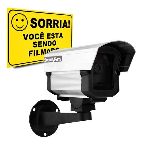 Imagem 1 de 7 de Micro Câmera Falsa Com Led P/ Segurança Security Parts