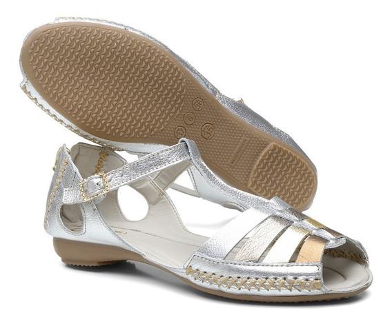 Sandália Sapatilha Feminina Top Franca Shoes Moleca Ouro