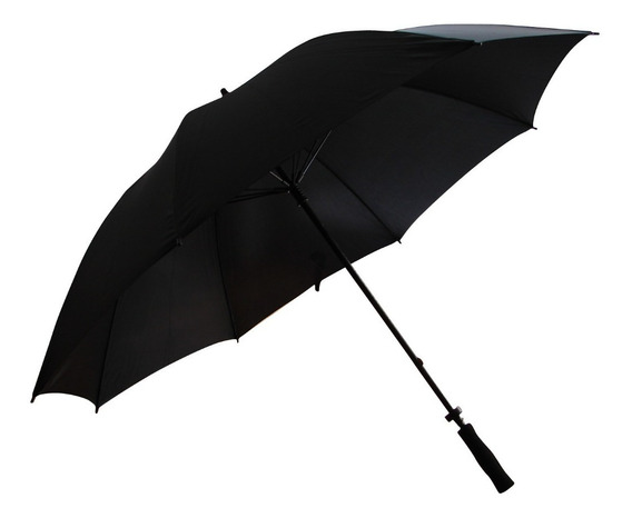 Paraguas Gigante Negro Reforzado Importado Excelente Calidad