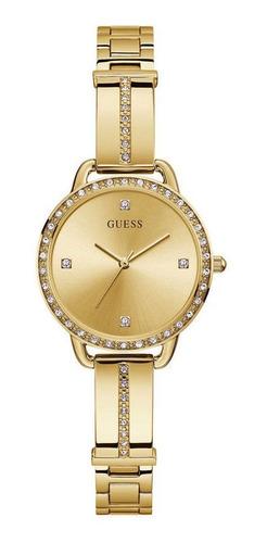 Relógio Guess Feminino Dourado Strass Gw0022l2