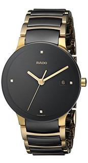 Rado Hombres R30929712 Centrix Jubile Chapado En Oro Reloj D