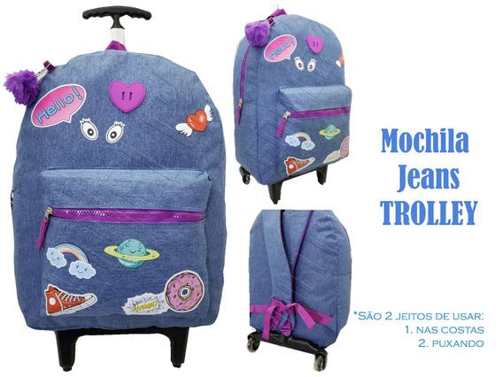 Mochila Rodinha E Alça Infantil Escolar Patch Donut Mc-01853