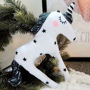 Pelucia De Unicornio Novo Importado Branco