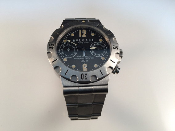 Reloj Bvlgari Diagono Professional Scuba Automático De Acero
