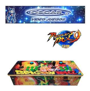 Tablero Arcade C/ Pandora 9h Uso Casero Dragon Ball Z