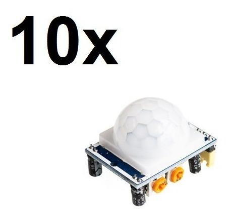 10x Sensor De Movimento Presença Pir Arduino + Cabos C/ Nota