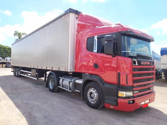 Conjunto Scania R124 360 + Carreta Sider Randon 28 Plts 2018
