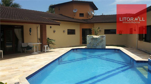 Imagem 1 de 25 de Casa Residencial À Venda, Frente Ao Mar, 4 Dorm,  Cibratel I, Itanhaém - Ca0347. - Ca0347