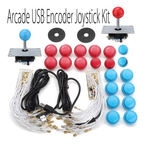 Imagen 1 de 10 de Arcade Diy Kits 2 Usb Codificador 2 Joystick 20pcs Botones