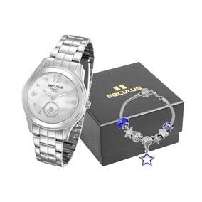 Relógio Feminino Seculus Prata