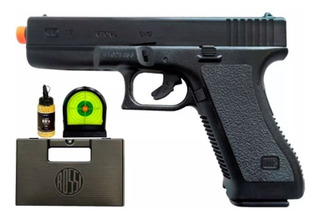 Pistola De Airsoft Kwc Glock G7 - 6mm + Kit Alvo