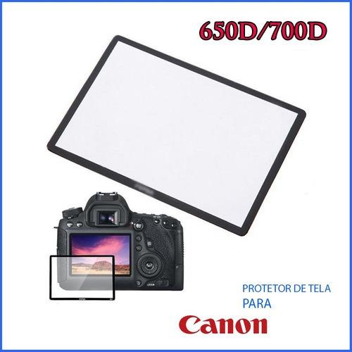 Protetor Displ Tela Lcd Vidr Optic Camer Maq Canon 650d/700d