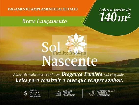 Lotes (140m²) Em Bragança Paulista Condição Especial Parcelas De R$674,00 - 8873