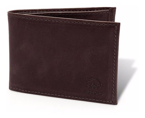 Carteira Masculina Porta Cartão Slim Couro Promoção - 3 Cores
