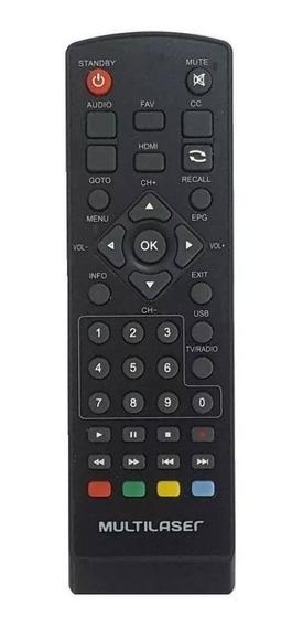 Controle Remoto Para Conversor Tv Digital Multilaser Re207