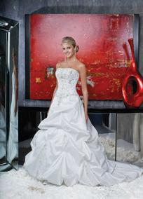 Vestido De Noiva - Branco - 40 - Pronta Entrega - Vn00025