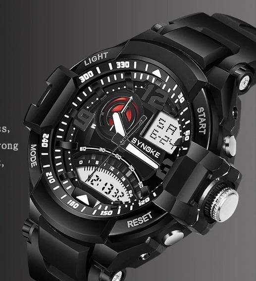 Synoke 67876 Relógio Fashion Multifuncional À Prova De Água