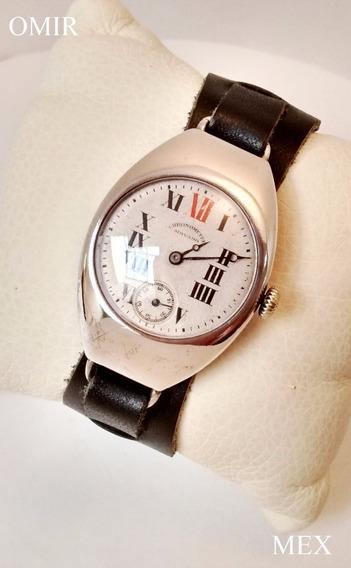 Reloj Movado Plata Vintage Cuerda Suizo
