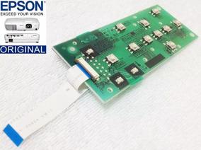 Teclado Do Projetor Epson S8, S10 Com Cabo Flat.