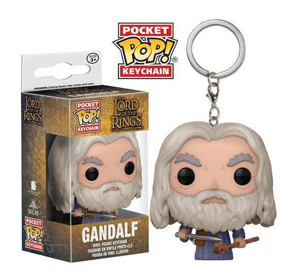 Senhor Dos Aneis Chaveiro Mini Boneco Pop Funko Gandalf