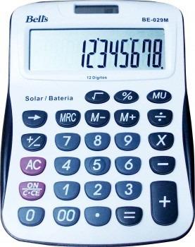 Kit Com 06 Calculadoras De Mesa Bells Be-029m - 12 Dígitos