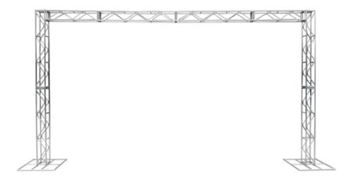 Imagem 1 de 6 de Treliças Kit Trave Box Truss Q20 Aço 3x5m - Frete Grátis