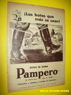 Clipping Antigua Publicidad Botas Pampero Reforzadas