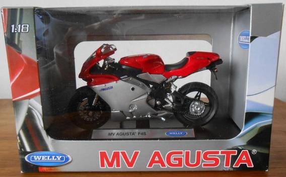 Moto Welly Escala 1/18 Mv Agusta F4s Colección La Plata .