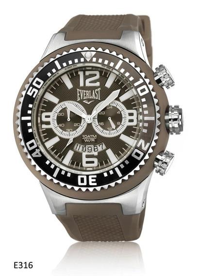 Relógio Everlast Masculino Caixa Revestida De Silicone Festa