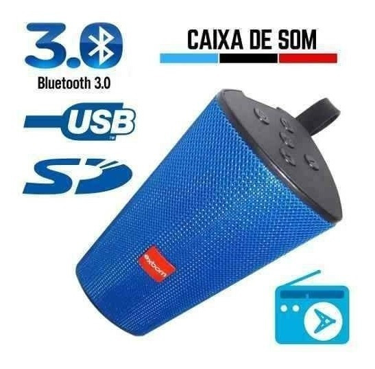 Caixa De Som Portátil Bluetooth Mp3