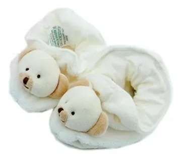 Pantufa Para Bebê Cachorrinho Listrado Bege Ziptoys Poo2-ump