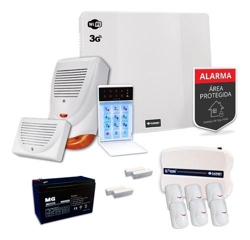 Kit Alarma Domiciliaria 3g Wifi Sms Internet Sensor Sirena