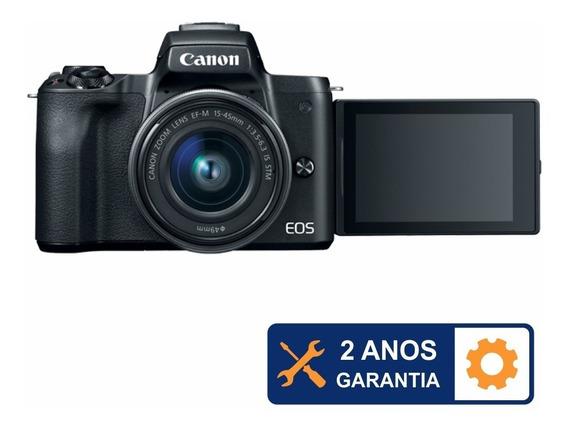 Camera Mirrorlles Canon M50 Com Lente 15-45mm Kit Com N/f