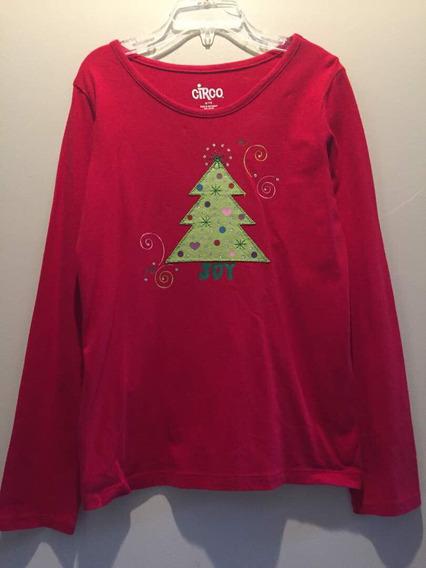 Sweater Navideño Para Niña Marca Circo. Original. Talla 7-8