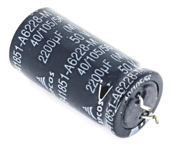 Kit 10 Peças Capacitor Eletrolítico Epcos Snapin 2200uf 50v